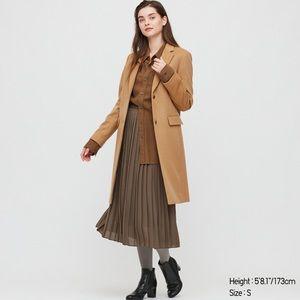 Cashmere Blend Chester Coat Camel Uniqlo